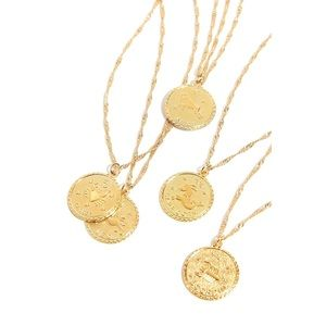 Free People TAURUS Ascending Medallion Necklace